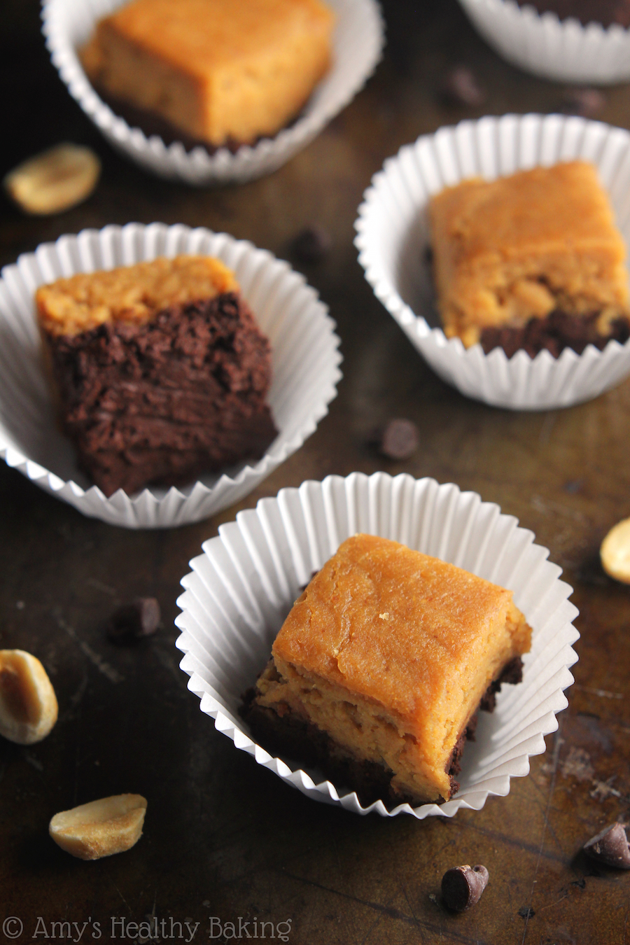 10 Minute Buckeye Fudge -- the BEST & easiest candy you'll ever make! Just 27 calories & 2.5g of protein!
