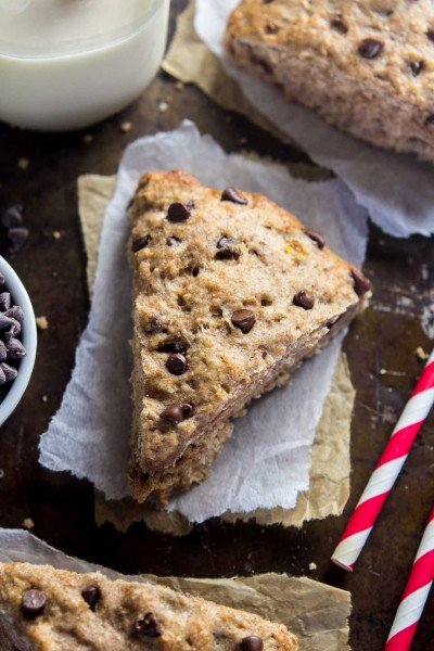 AHB TV: Healthy Chocolate Chip Banana Bread Scones