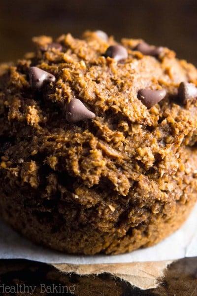 Chocolate Chip Pumpkin Bran Muffins