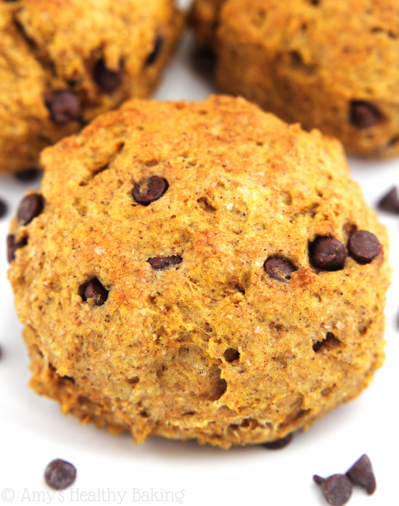 Chocolate Chip Pumpkin Scones from the Healthier Chocolate Treats Cookbook!