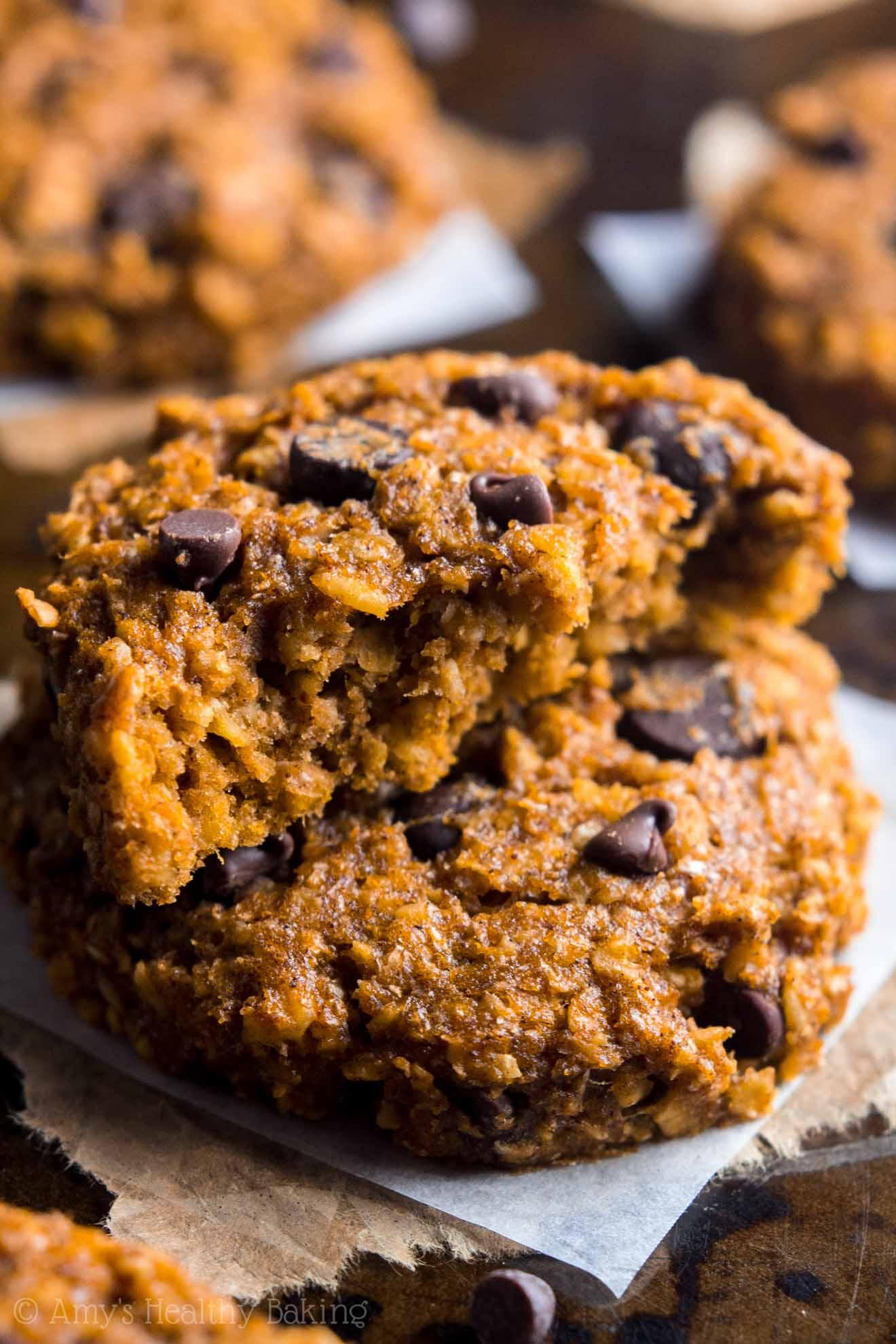 Pumking Oatmeal Chocolate Chip Cookies