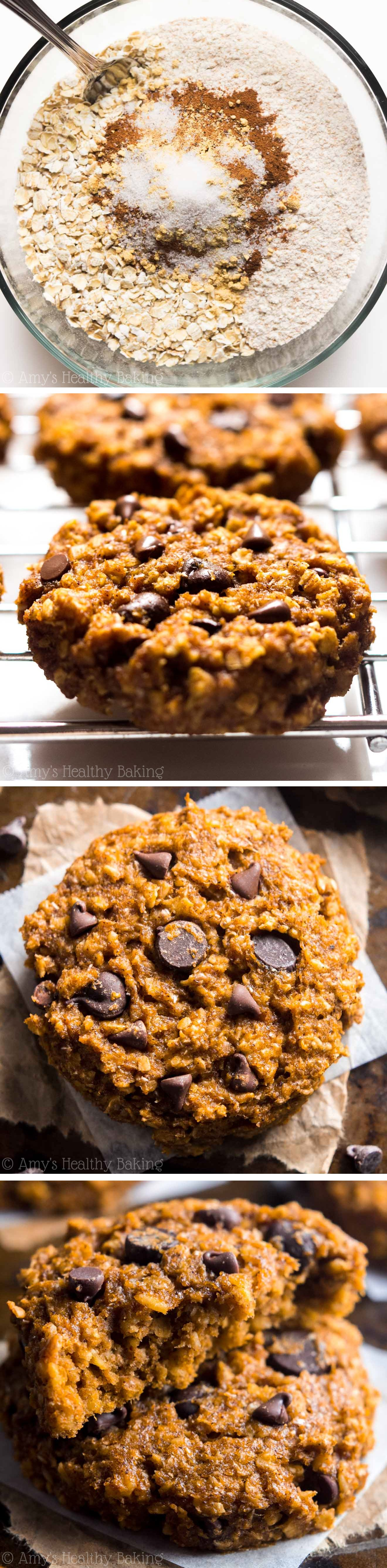 Pumpkin Pie Chocolate Chip Oatmeal Cookies | Amy's ...