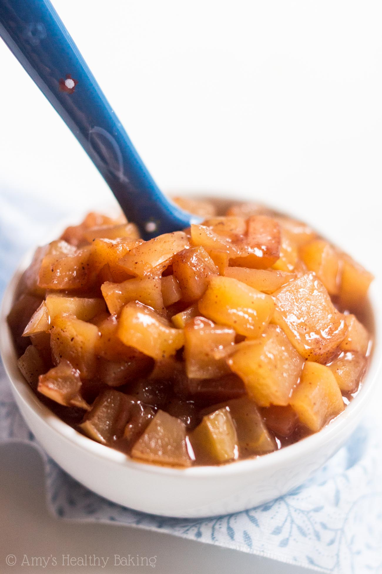 Slow Cooker Apple Pie Filling -- the easiest recipe you'll ever make! It's clean-eating, SO much better than canned & healthy enough for breakfast too!