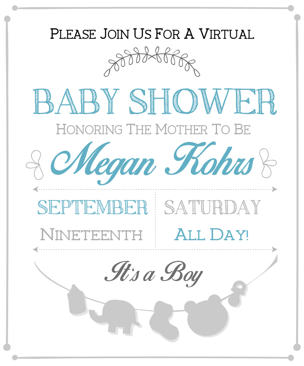 Virtual Baby Shower For Meg @ Withsaltandwith!