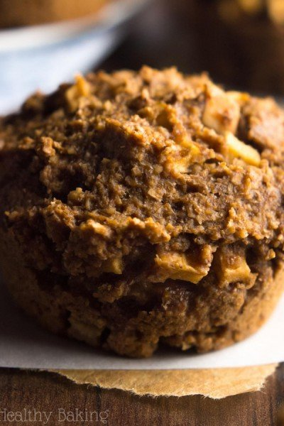 Apple Gingerbread Bran Muffins