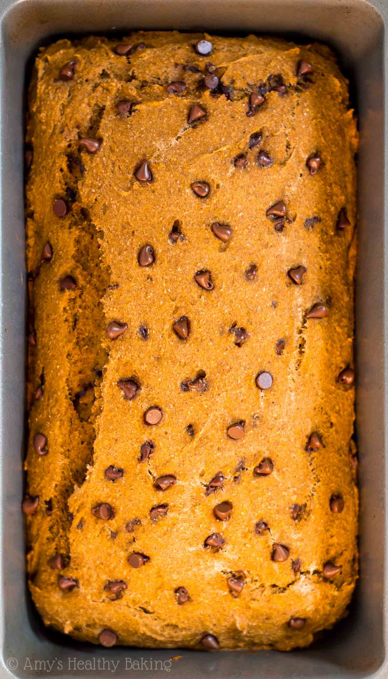 Chocolate Chip Pumpkin Bread | Amy's Healthy Baking