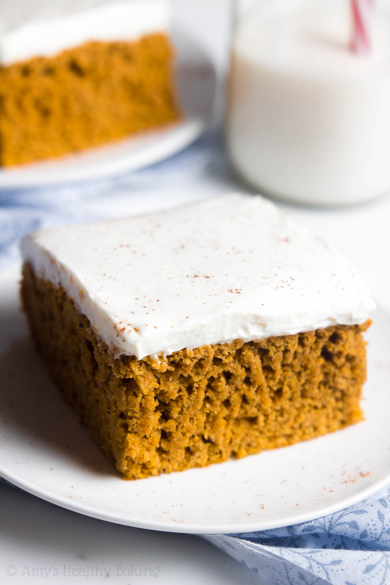 Low Fat Pumpkin Cake With Cream Cheese Frosting