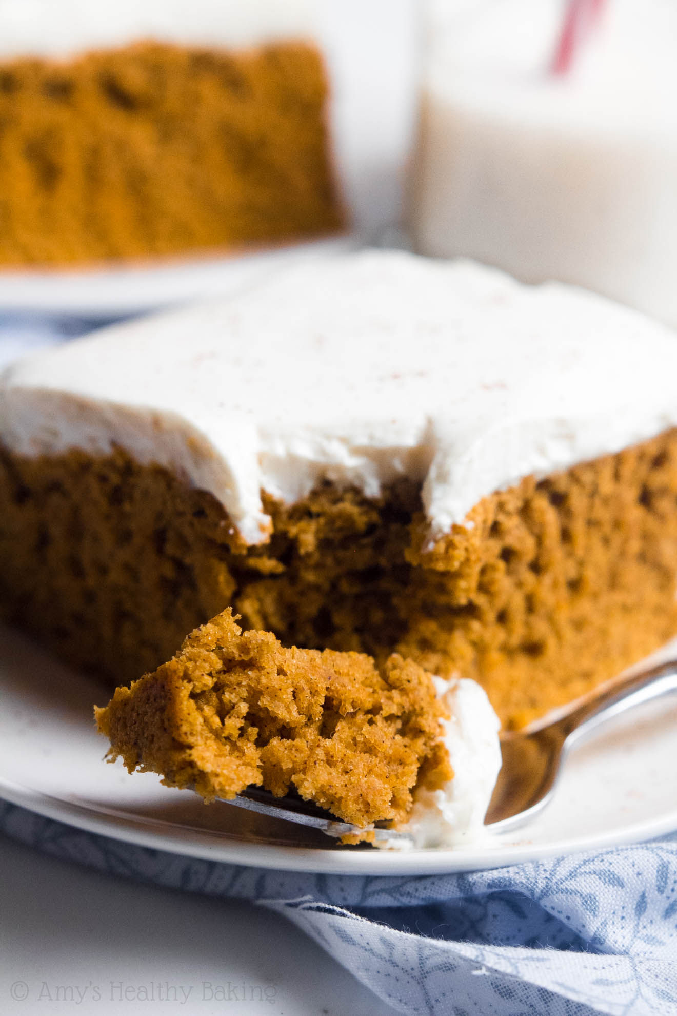 Healthy Pumpkin Cake With Cream Cheese Frosting