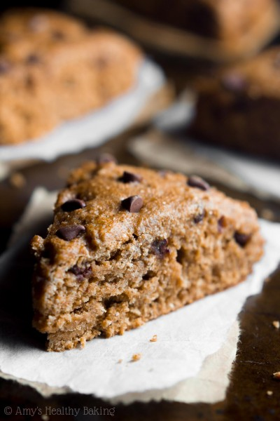 Clean Chocolate Chip Gingerbread Scones