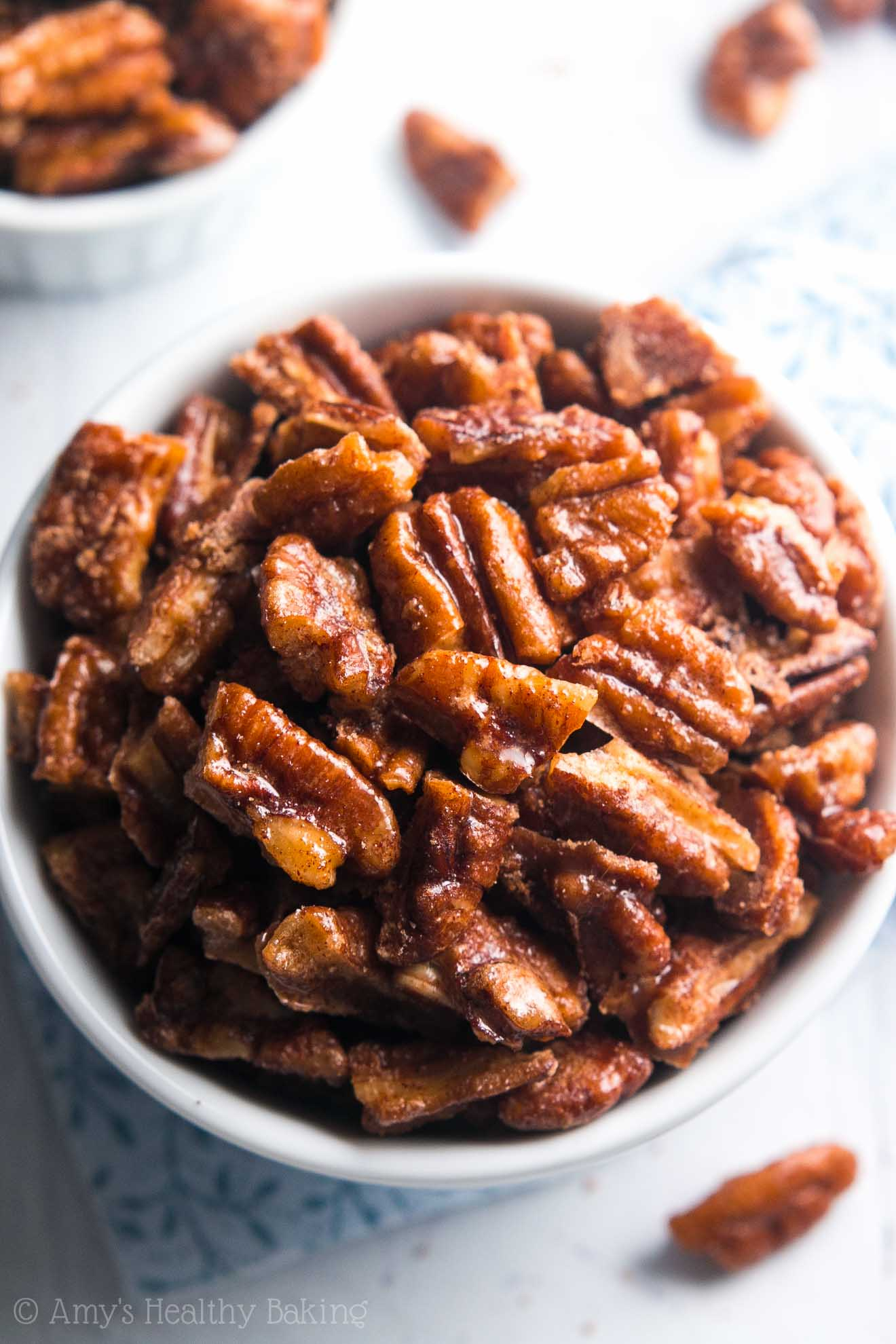5-Minute Candied Pecans | Amy's Healthy Baking