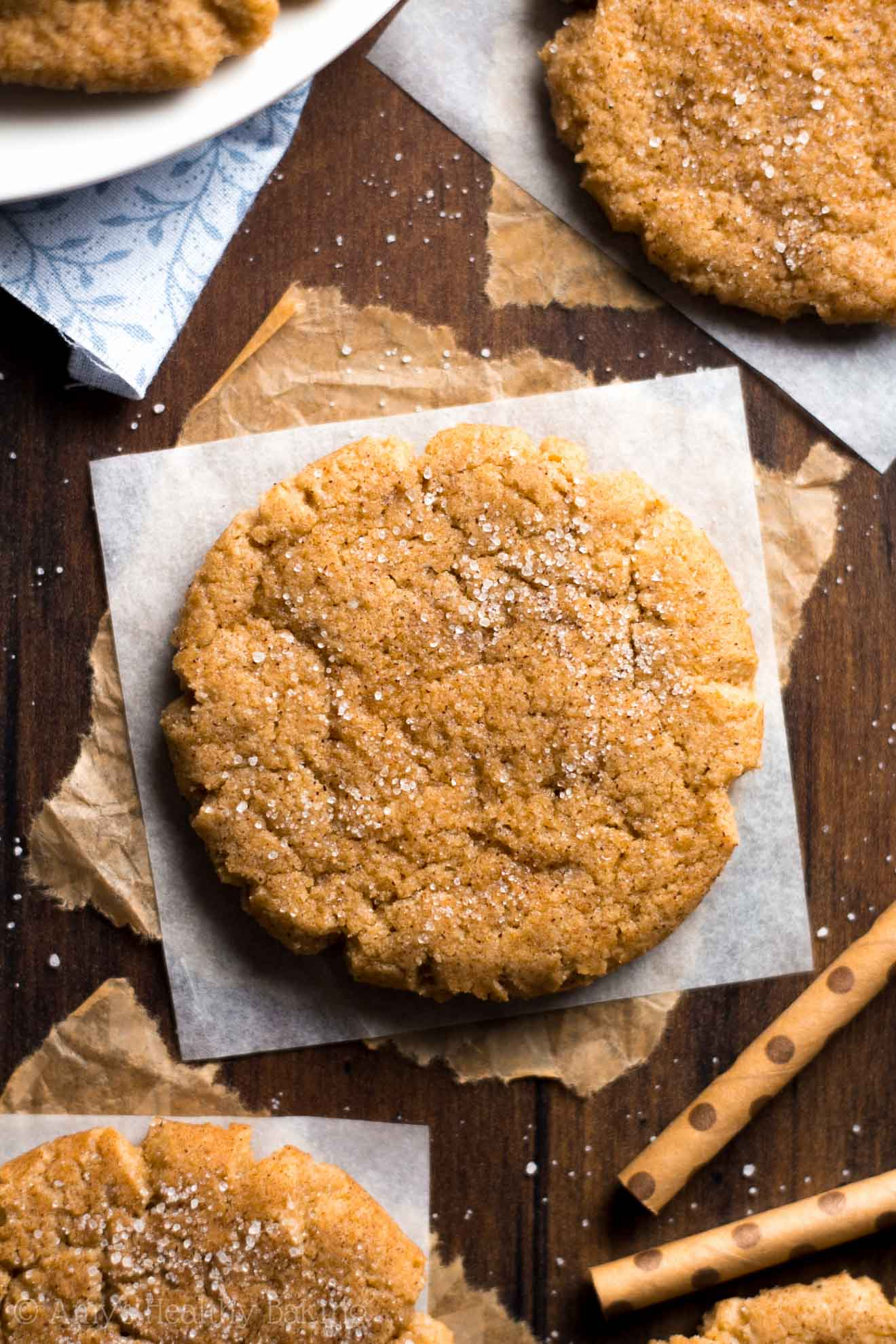 These are my family's favorite buttery snickerdoodles because of a special SECRET ingredient! These skinny cookies don't taste healthy at all! You'll never use another snickerdoodle recipe again!
