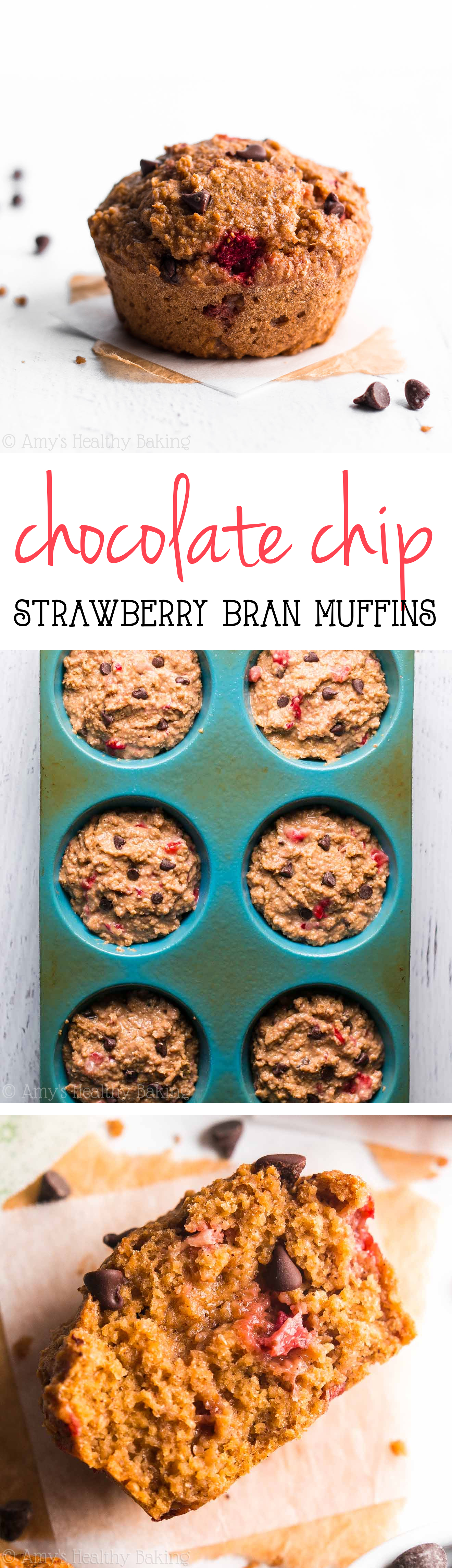One simple trick gives these healthy chocolate-filled muffins the same texture as cupcakes! They're the perfect skinny breakfast treat!