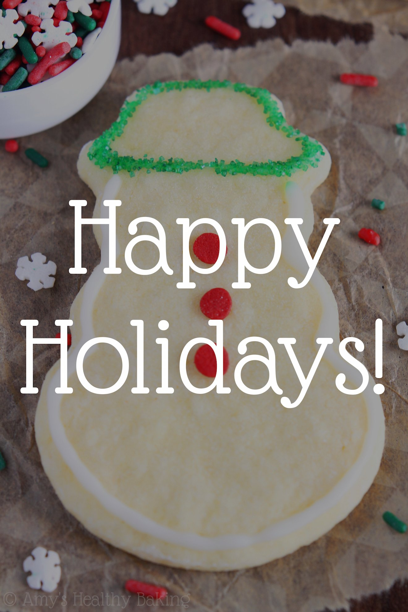 Happy Holidays! ♥ Amy's Healthy Baking