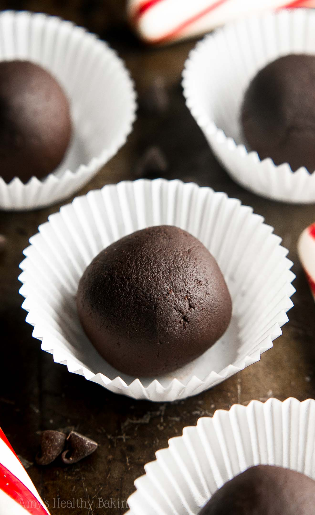 GUILT-FREE CANDY!! These truffles are just 22 calories! They're SO easy to make. You probably have all 5 healthy ingredients in your pantry!