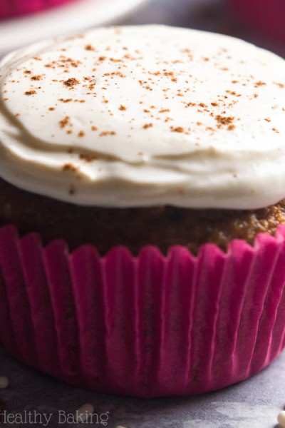Gingerbread Cupcakes with Cream Cheese Frosting {Recipe Video!}