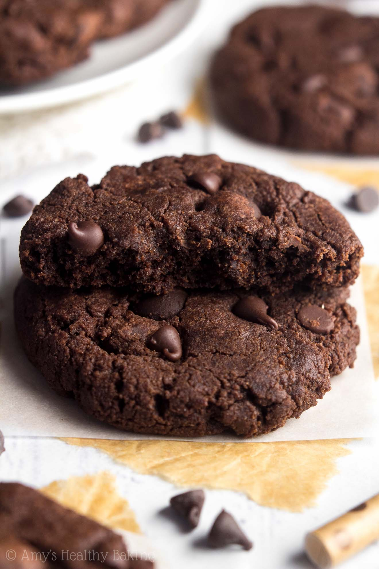 Triple Chocolate Peppermint Cookies | Amy's Healthy Baking