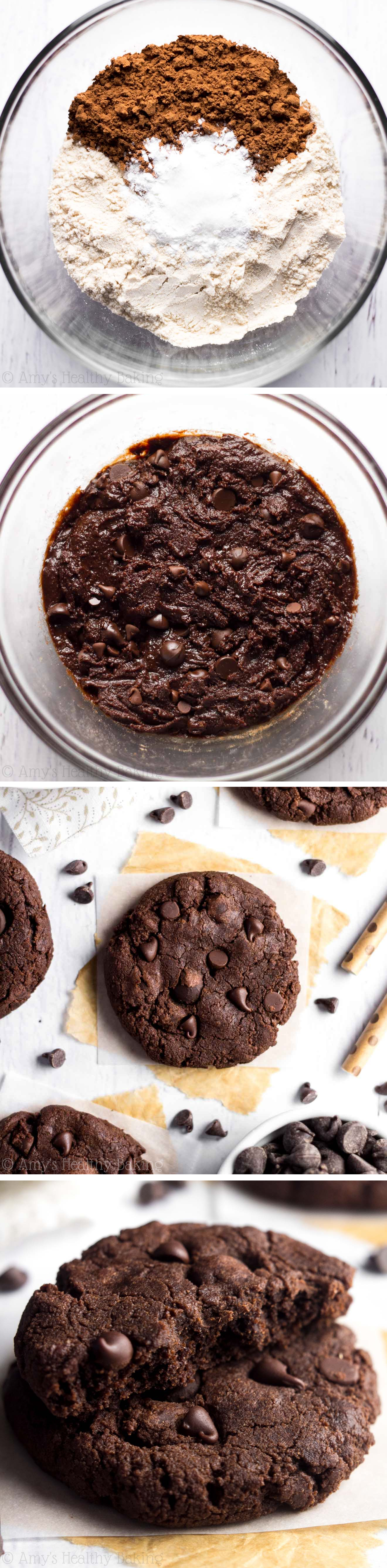 These decadent cookies are so easy to make & taste as fudgy as brownies! They're the BEST 100 calories I've ever eaten!