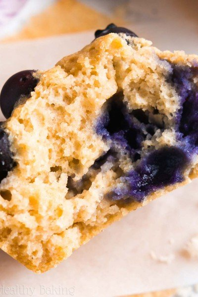 The Ultimate Healthy Blueberry Muffins {Recipe Video!}