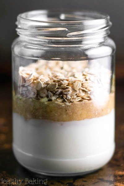 Banana Bread Protein Overnight Oats