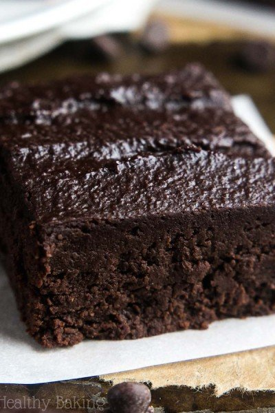 Skinny Slow Cooker Fudgy Dark Chocolate Brownies
