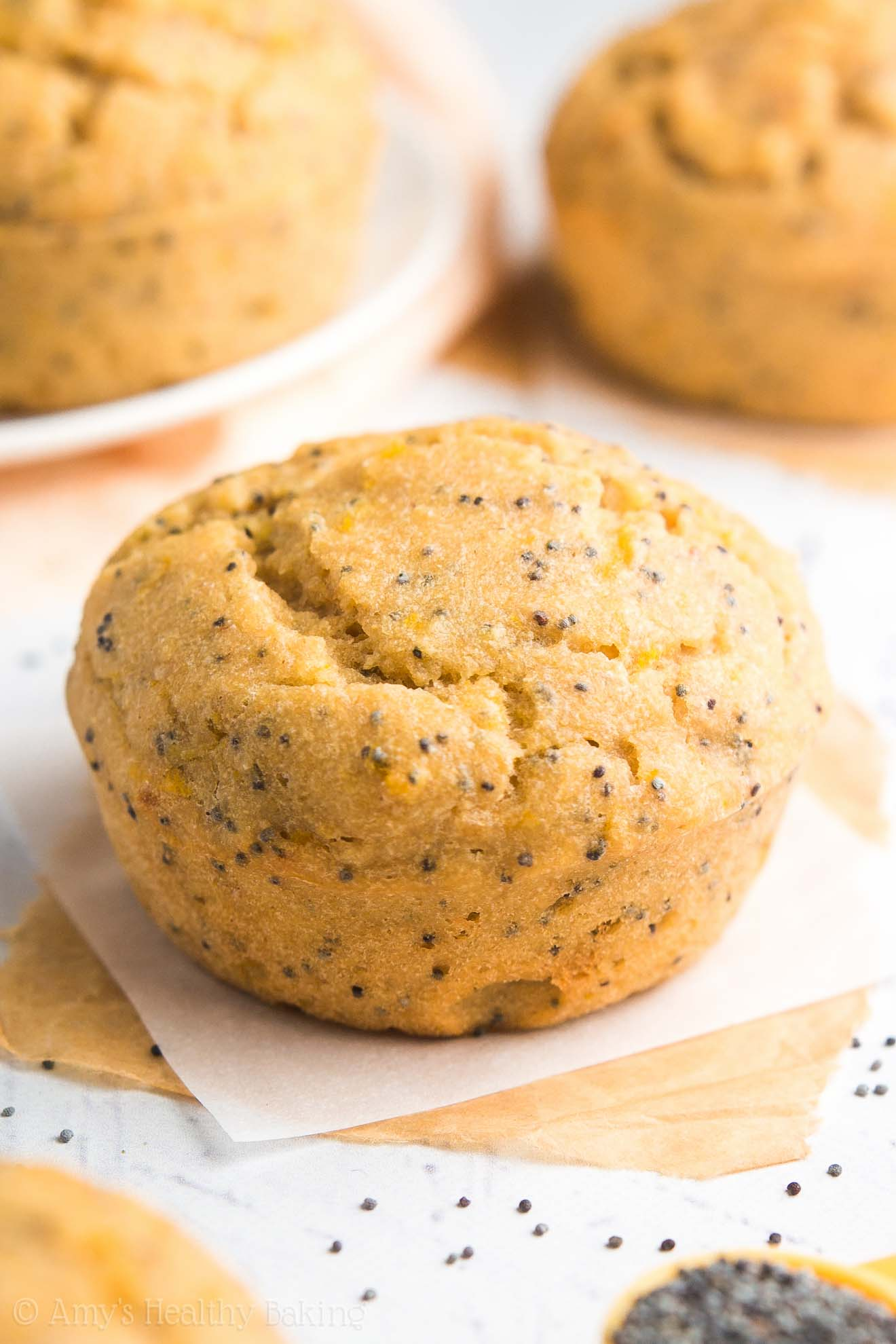 These skinny lemon poppy seed muffins taste like they're from a gourmet bakery -- NOT healthy at all! You'll never need another recipe again!