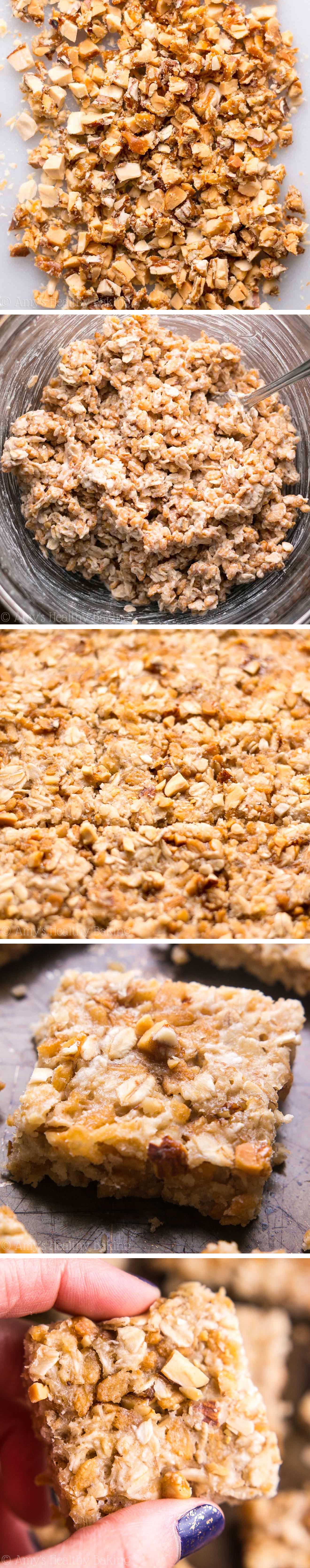 These healthy granola bars taste like banana nut muffins! So easy, so good & just 35 calories! Perfect for grab-and-go snacks!