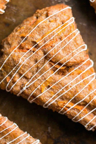 Clean Carrot Cake Scones