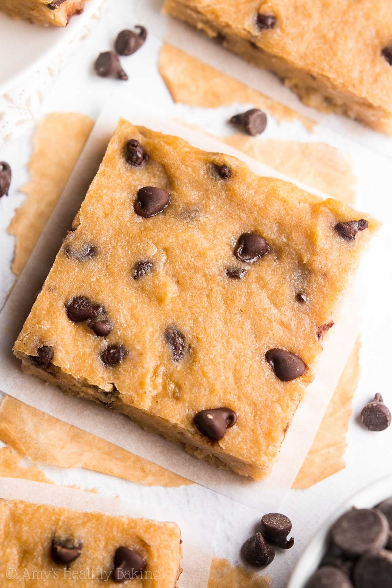 Chocolate Chip Banana Bread Brownies | Amy's Healthy Baking