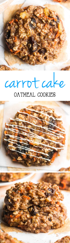 Loaded Carrot Cake Oatmeal Cookies