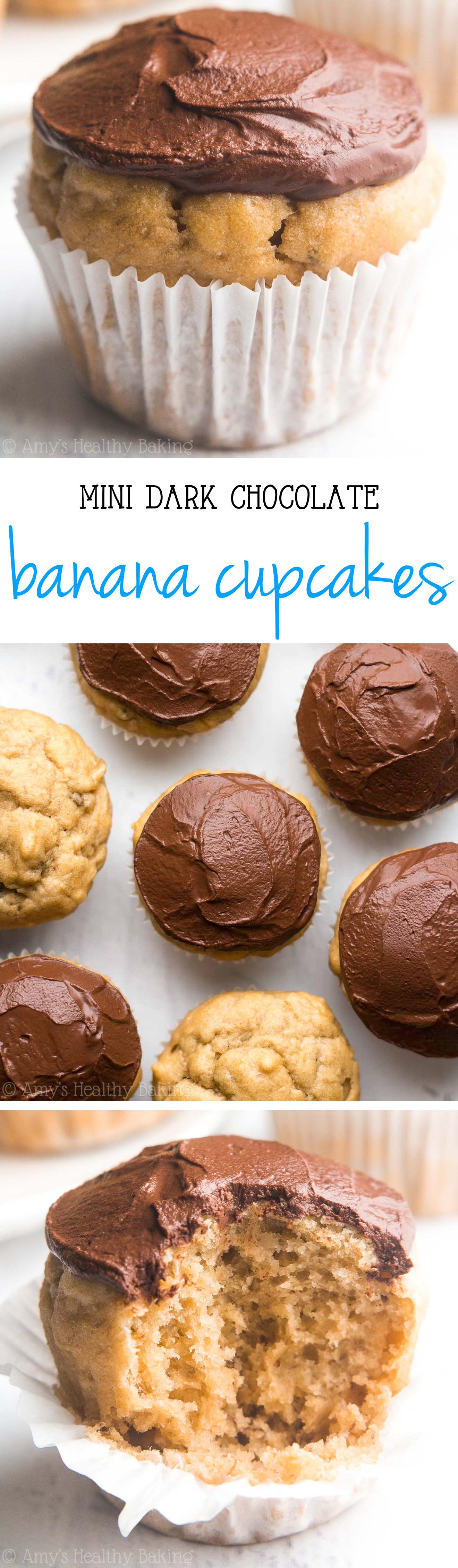 Mini Dark Chocolate Banana Cupcakes Amy S Healthy Baking