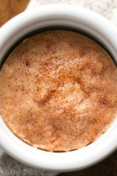 Skinny Single-Serving Snickerdoodle Mug Cake
