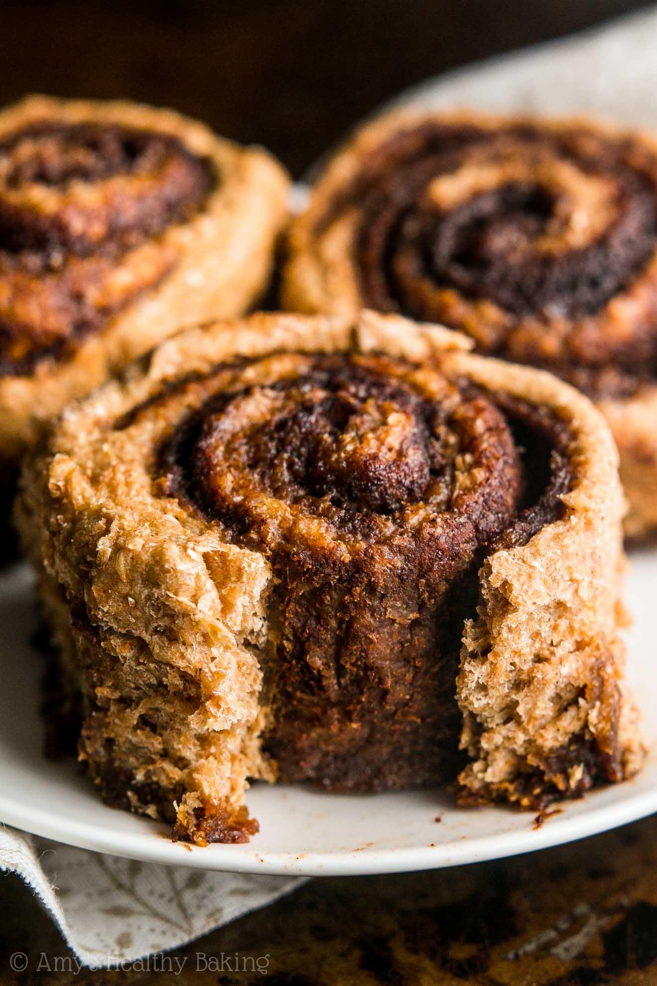 Skinny Slow Cooker Cinnamon Rolls Amy S Healthy Baking