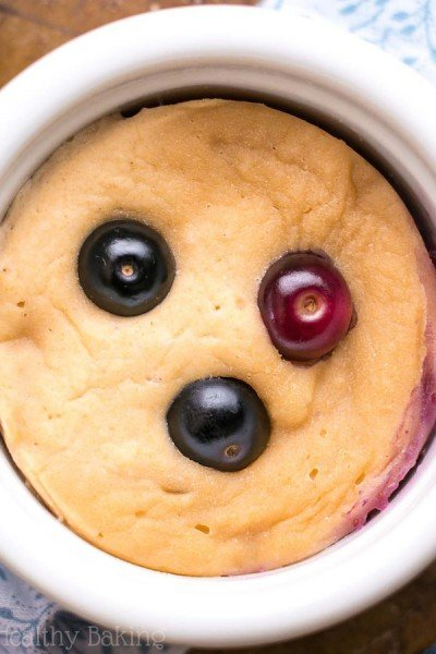 Skinny Single-Serving Blueberry Muffin (in a mug!)