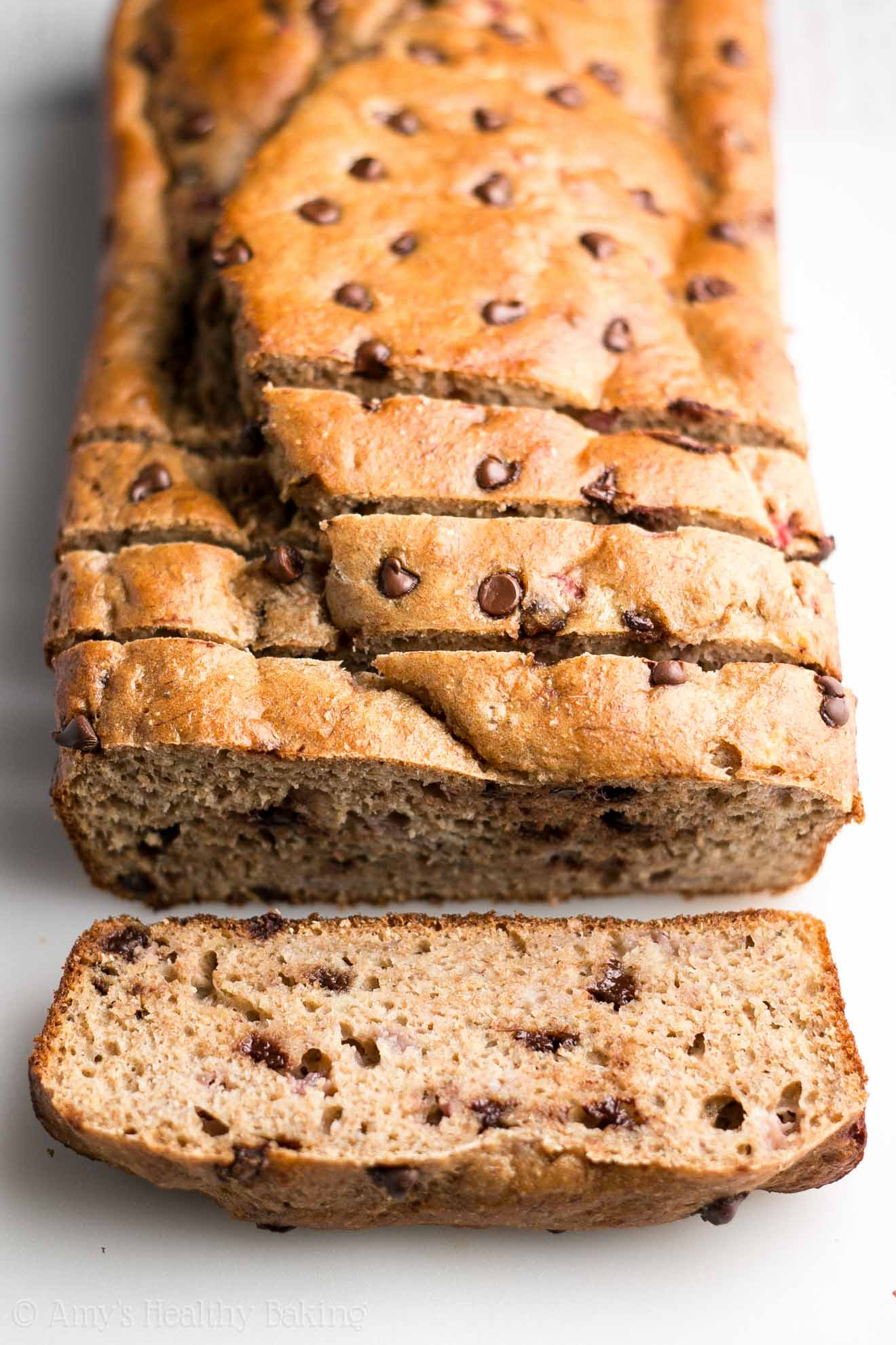 Strawberry Chocolate Chip Banana Bread | Amy's Healthy Baking