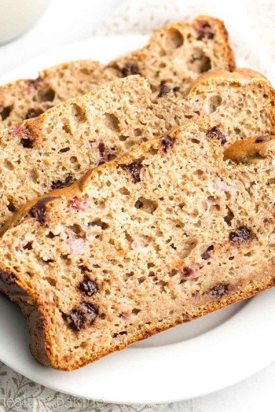 Strawberry Chocolate Chip Banana Bread