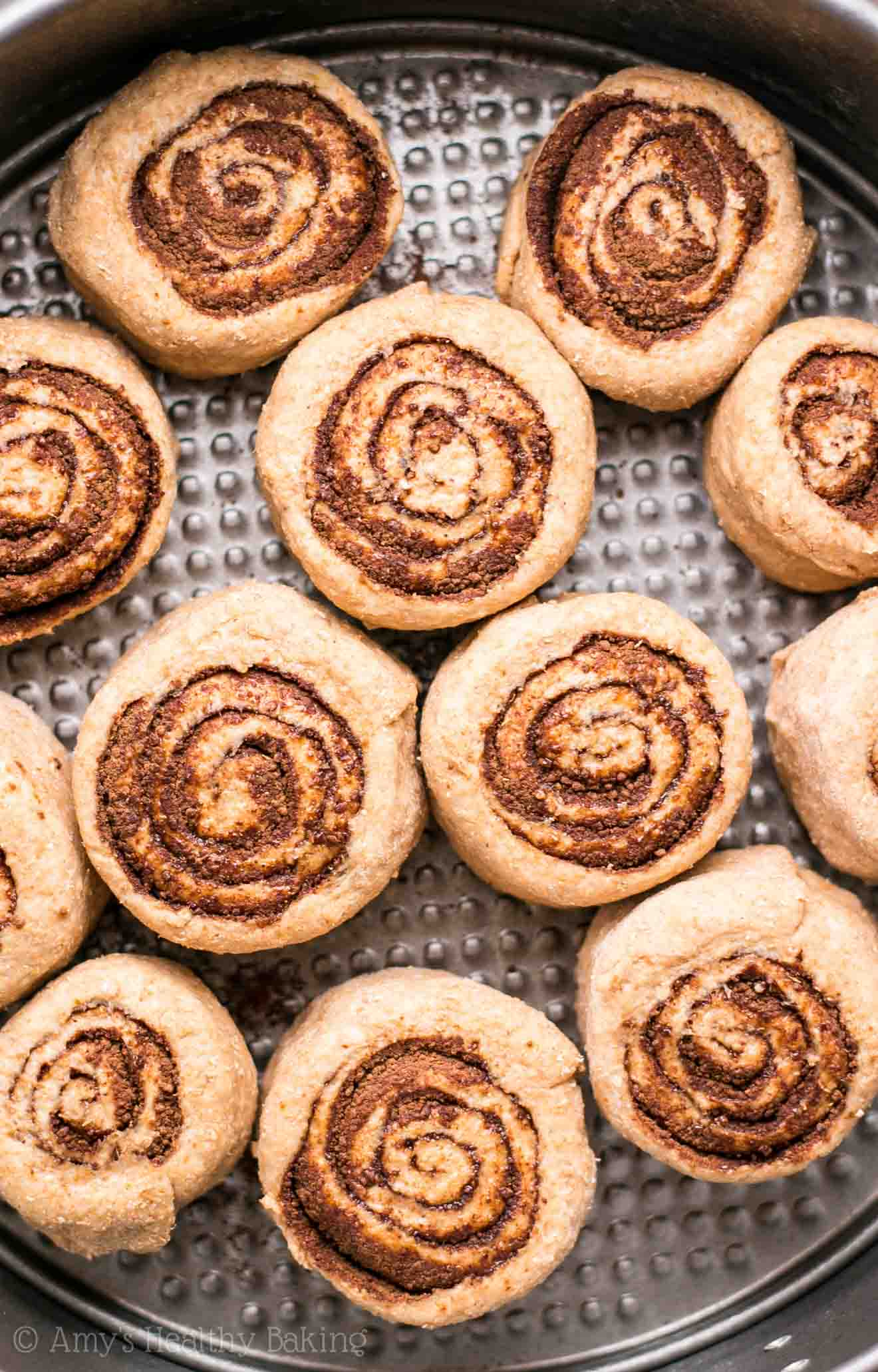 Skinny Chocolate Cinnamon Rolls -- my family called these the BEST they've ever had! They don't taste healthy at all & they're just 109 calories!