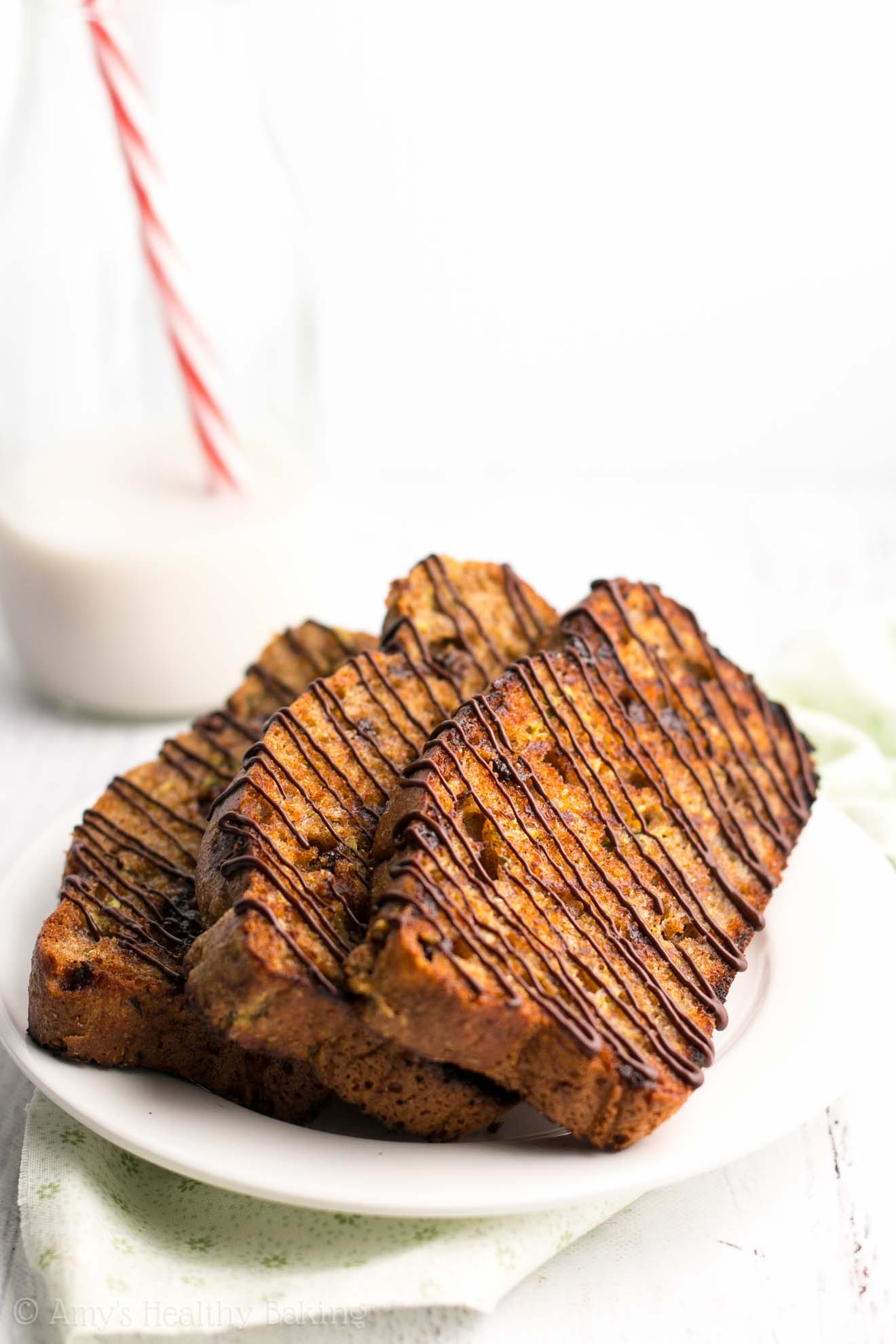 Grilled Chocolate Chip Zucchini Bread | Amy's Healthy Baking