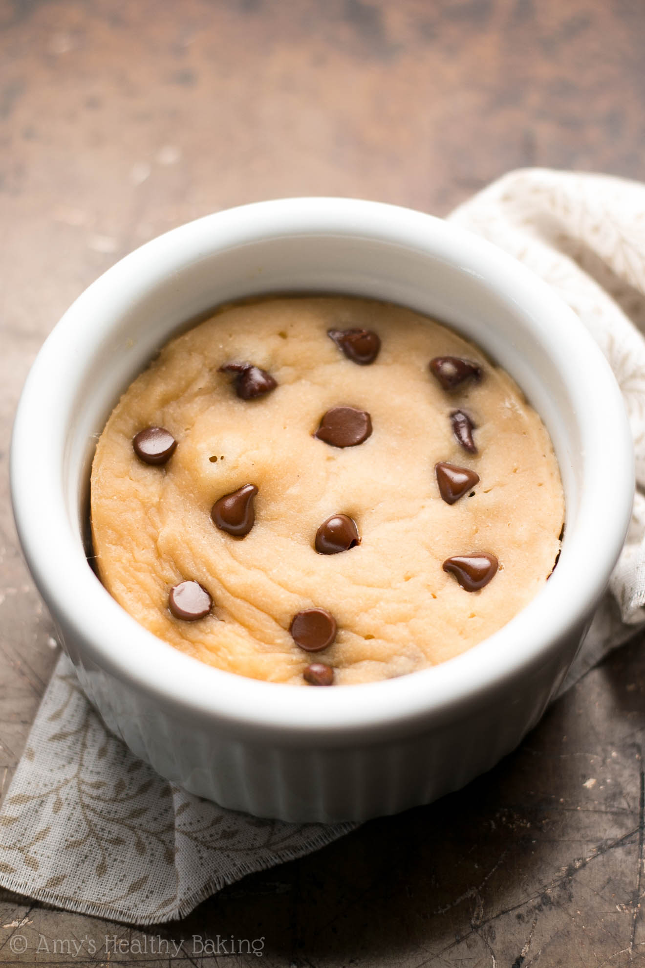 Skinny Single Serving Chocolate Chip Mug Cake Recipe Video Amy S Healthy Baking