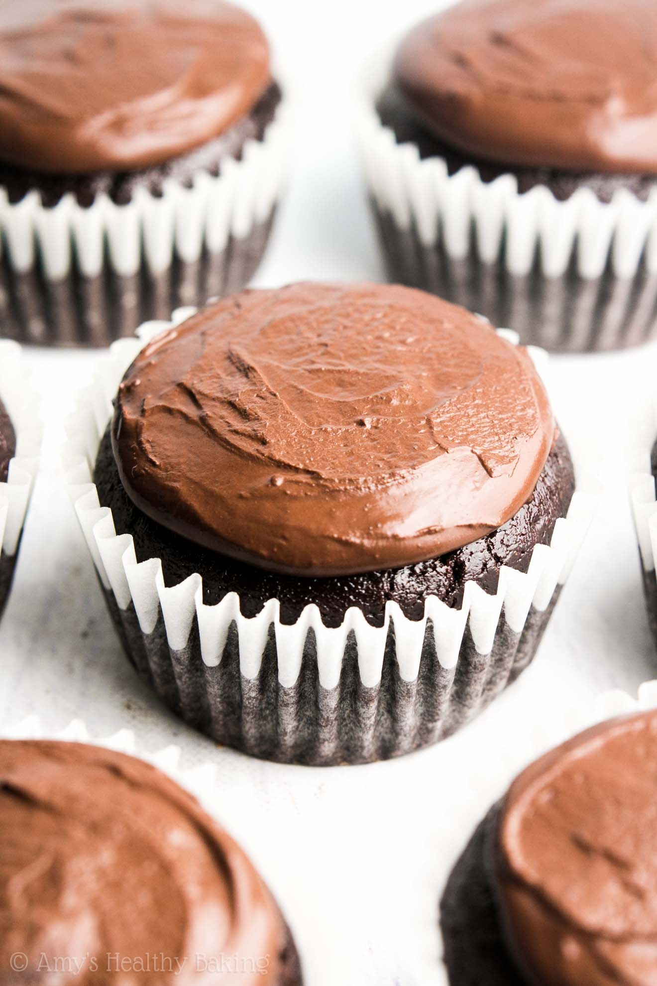 The Ultimate Healthy Dark Chocolate Cupcakes