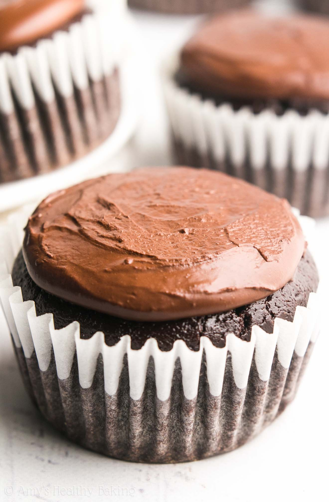 The Ultimate Healthy Dark Chocolate Cupcakes | Amy's Healthy Baking