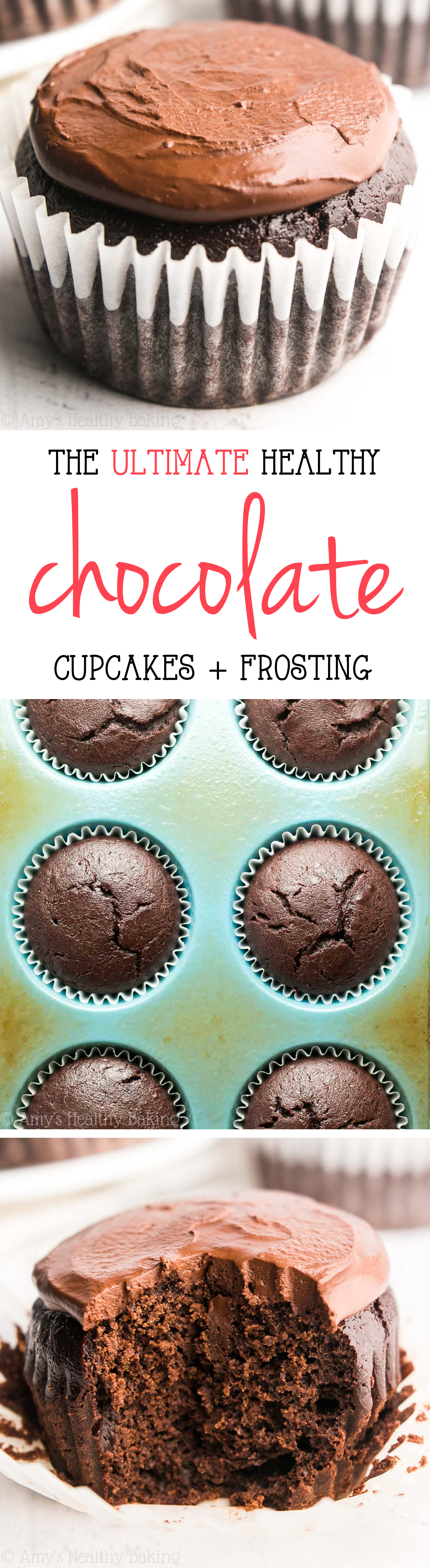 The Ultimate Healthy Dark Chocolate Cupcakes | Amy's ...