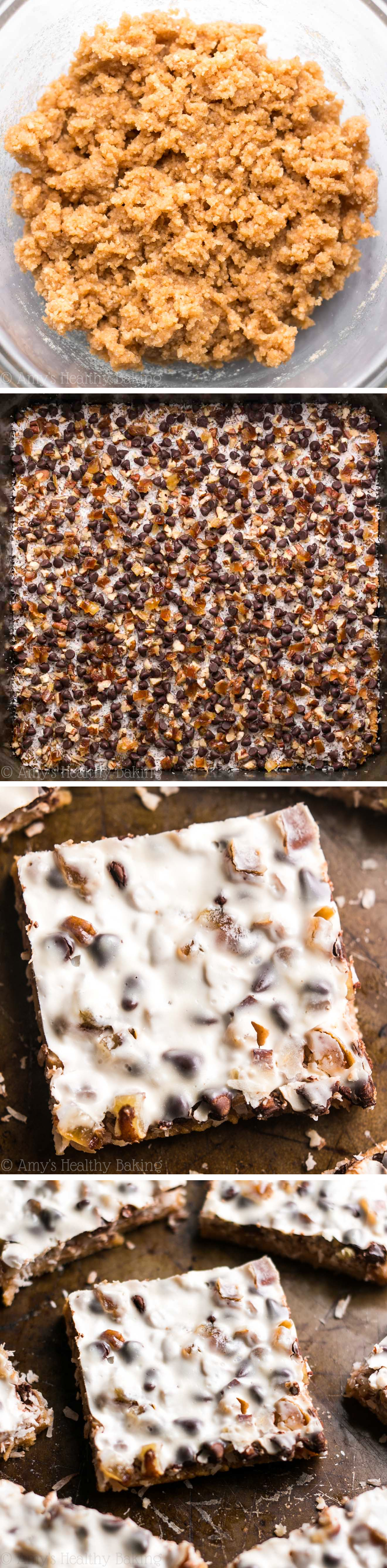 Skinny Caramel Seven Layer Bars – just 84 calories!! With a few healthy swaps, these magic bars have all of the decadence but NONE of the guilt! They don't taste healthy at all!
