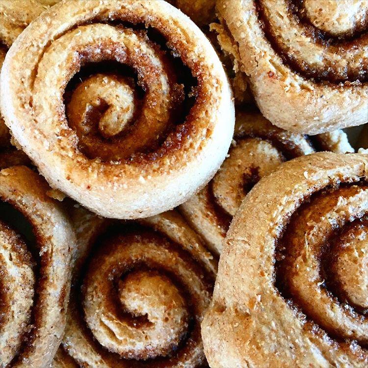 Clean Classic Cinnamon Rolls | @baates + @hannaessr