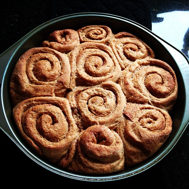 Clean Maple Cinnamon Rolls | @adancersliveit