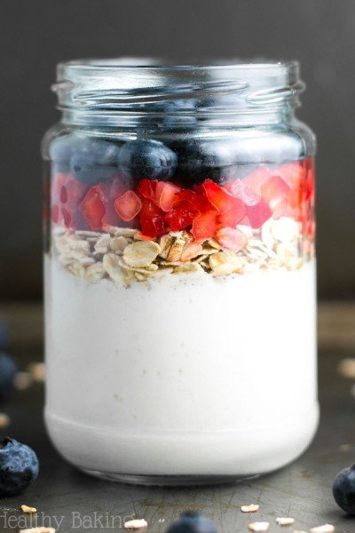 Mixed Berry Protein Overnight Oats