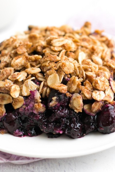 The Ultimate Healthy Blueberry Crumble {Recipe Video!}