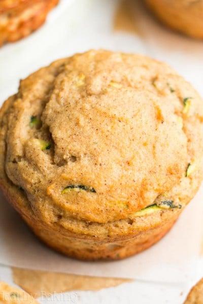 Zucchini Bread Protein Muffins