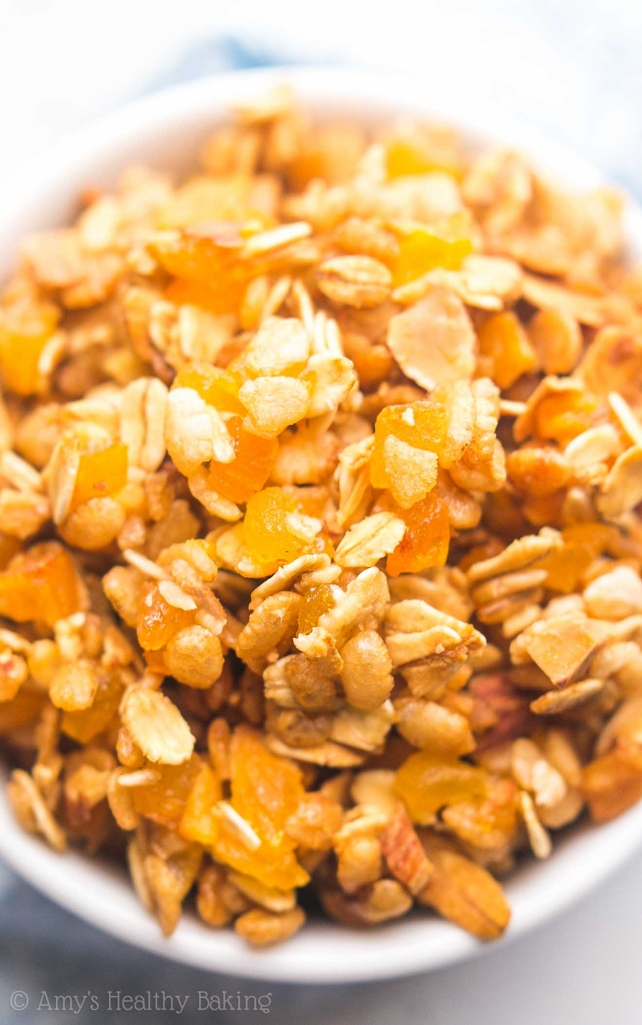 Healthy Trail Mix Granola -- just 5 wholesome ingredients! So easy & full of crunchy clusters. My family LOVES this recipe!