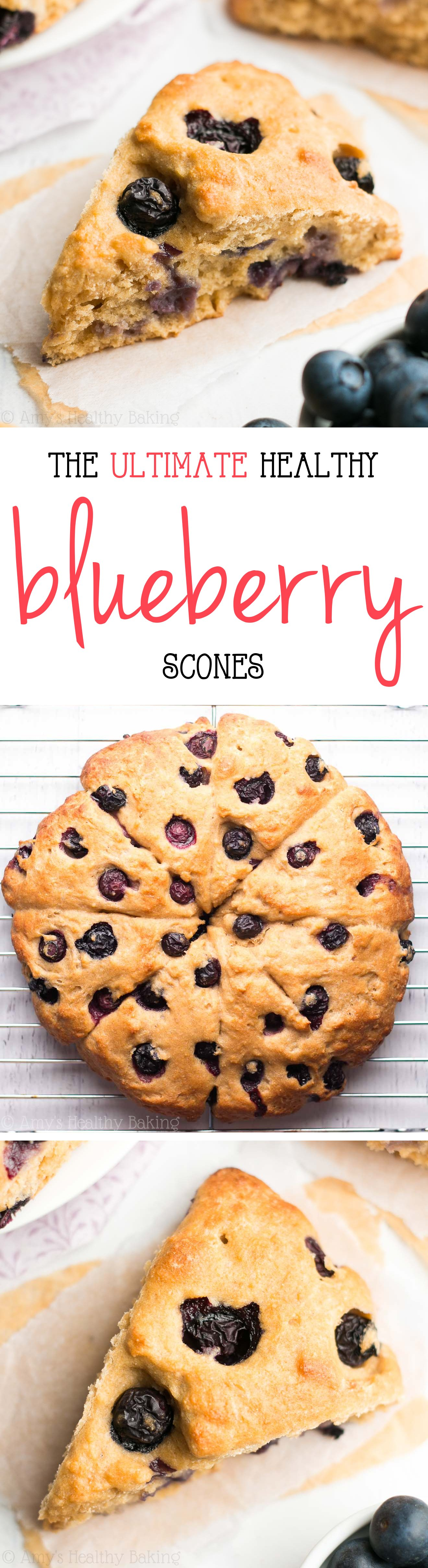 The Ultimate Healthy Blueberry Scones -- so easy, supremely tender & nearly 5g of protein! Ready in just 30 minutes!