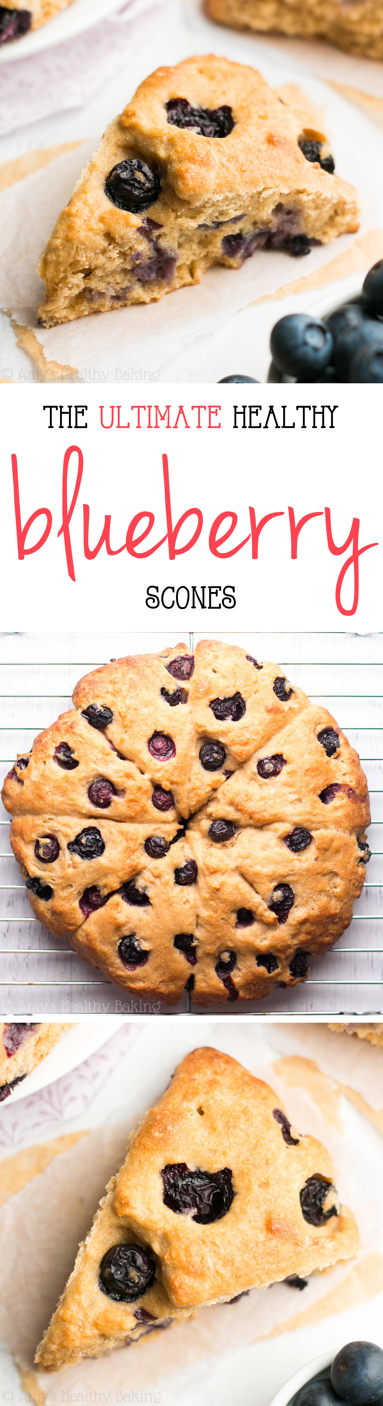 The Ultimate Healthy Blueberry Scones